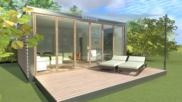 Zeecontainer tuinhuis the granche buiten pinterest for Shipping container pool house