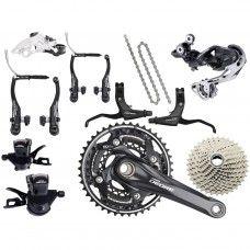 Shimano Deore 610 Groupset V-Brake 3x10-speed - black - www.store-bike.com