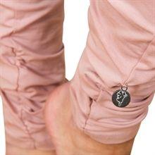 Wrinkled leggings - dove peach
