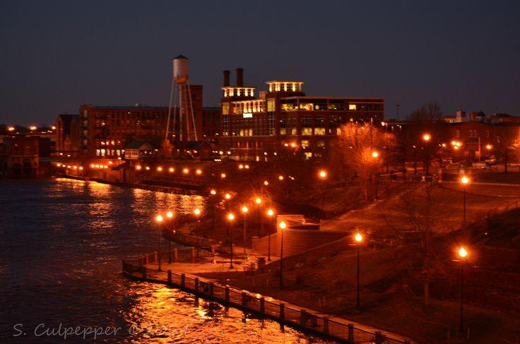 Columbus, ga riverwalk at night