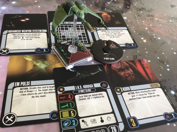 Klingon Koraga Bird of Prey...sexiest bird I've seen so far... With Worf, Kurn and Alexander. Badlands tokens come with the ship and the mission card looks interesting....need the time to sit and read.... Freshembroidery@hotmail.com