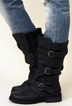 Black Buckle Boots from Nectar, $37