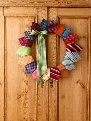 Neck tie door wreath