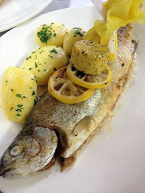 Nice Forelle im Ganzen trout Seehaus in Munich