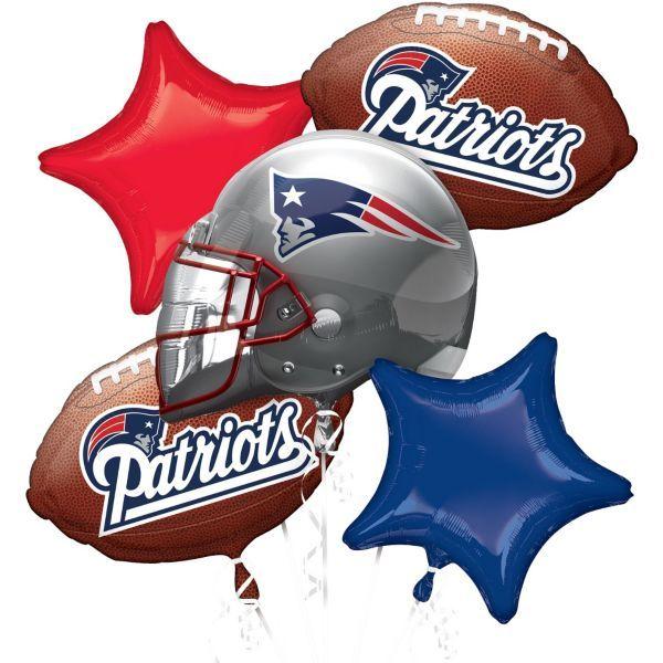 New England Patriots Balloon Bouquet 5pc