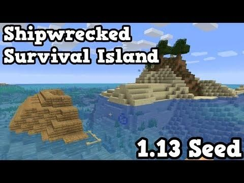 Minecraft 1 13 Seed - Survival Island SHIPWRECK SEED | toys