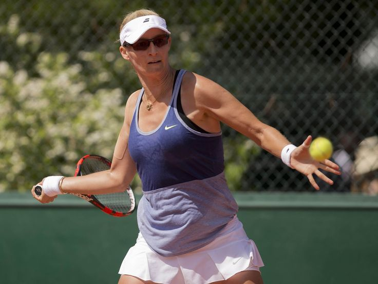 Mirjana Lucic-Baroni (CRO) in action during her match against Lauren Davis (USA).  Susan Mullane, USA TODAY Sports