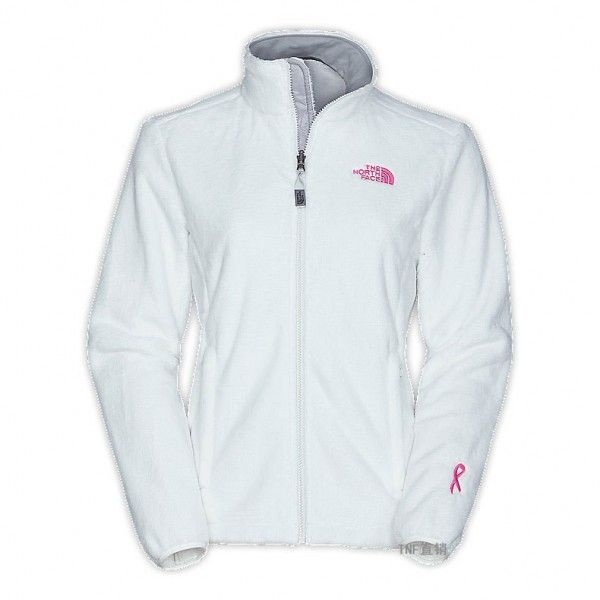The North Face Women's Osito Jacket Pink Ribbon White
