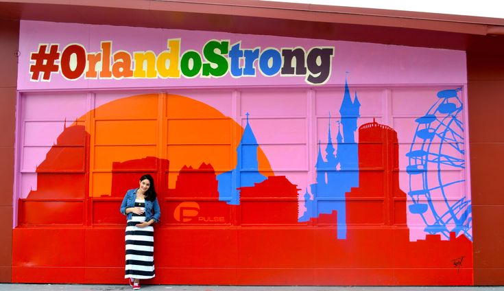 Maternity Photo at #OrlandoStrong mural, Track Shack (Mills50 district).  Great photo spot in Orlando.