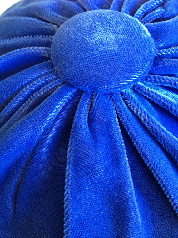 Blue Velvet Beret by EclecticEyeCandy on Etsy