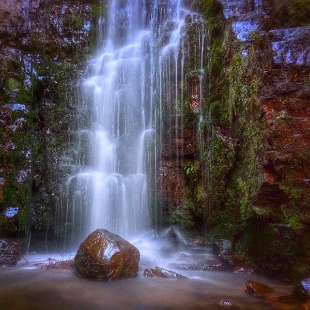 O'Grady Falls on Mt Wellington, just minutes from the Hobart CBD. You can visit the falls and Mount Wellington with a short detour on your way from Hobart to the Huon Valley.