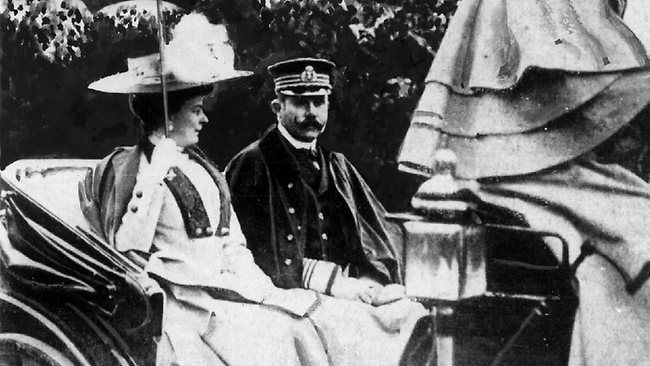 archduke Franz Ferdinand and Sophie his wife, on June 28, 1914 the day of their assassination.