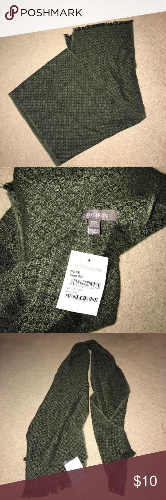 NWT Nordstrom scarf Color: olive very soft. 100% baby alpaca Nordstrom Accessories Scarves & Wraps