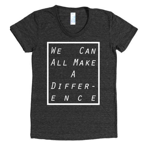 $28 Women's Make A Difference Tee (scheduled via http://www.tailwindapp.com?utm_source=pinterest&utm_medium=twpin&utm_content=post43964142&utm_campaign=scheduler_attribution)