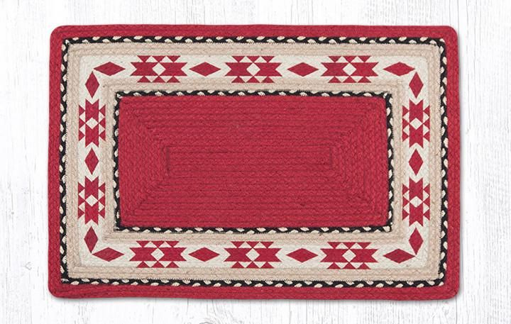Native American pattern rectangle rug. Braided jute durable rug. #southwest #rugs #NativeAmerican