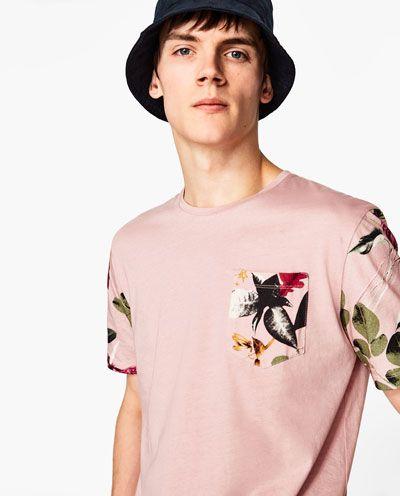 Мужские футболки с принтом весна – лето 2017 | ZARA Российская Федерация