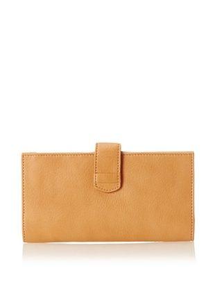50% OFF Tusk Women's Donington Napa Slim Clutch Wallet, Camel
