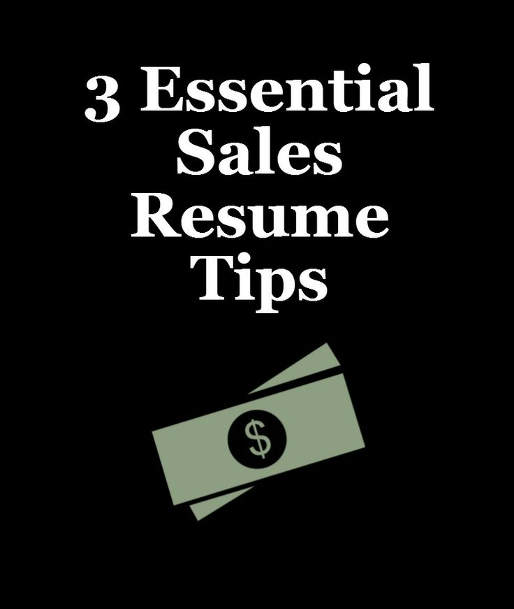 Crucial Tips for Sales Professionals Work You Do Pinterest - sales resume tips