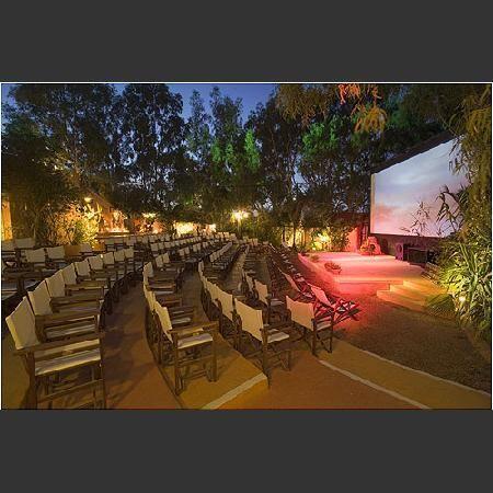 Open Air Cinema Kamari~movie under the stars in Santorini