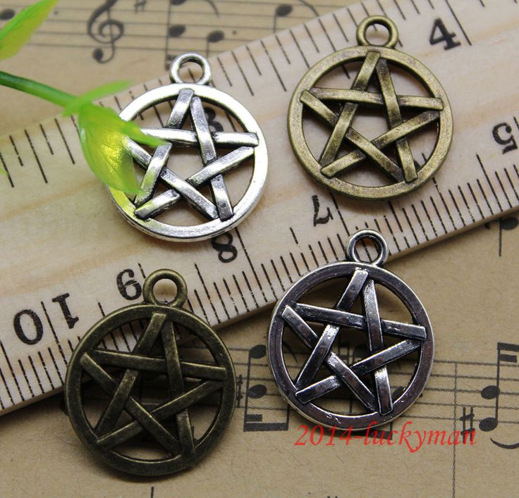 Lot 10/30/90 retro Jewelry Making Pentagram alloy charms pendant DIY 20x17mm | eBay