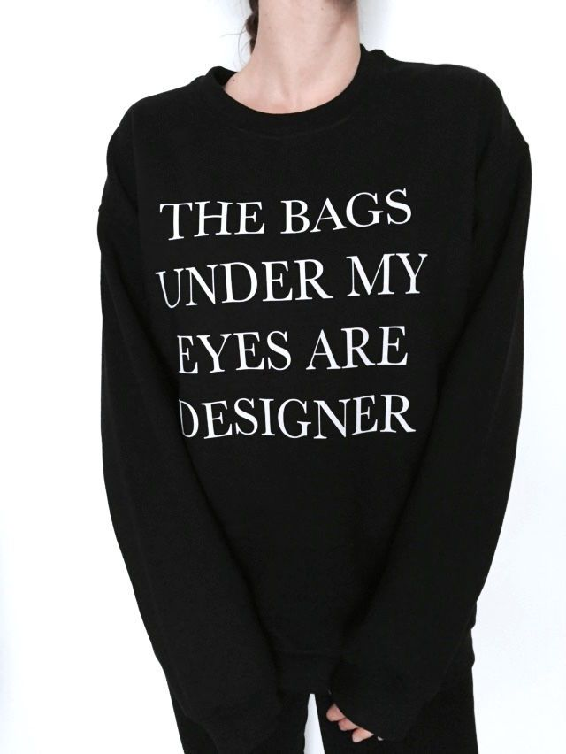 """Very popular on sites like Tumblr and blogs! For sale we have these """"I'd rather be sleeping"""" sweatshirt! The Sizes and Dimensions are as Follows from the drop down menus! in the same condition we sent it. 
