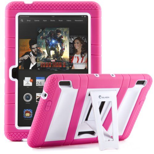 i-Blason Kindle Fire HDX 7 ArmorBox 2 Layer Convertible [Hybrid] Full-Body Protection KickStand Case with Built-in Screen Protector for Kids...