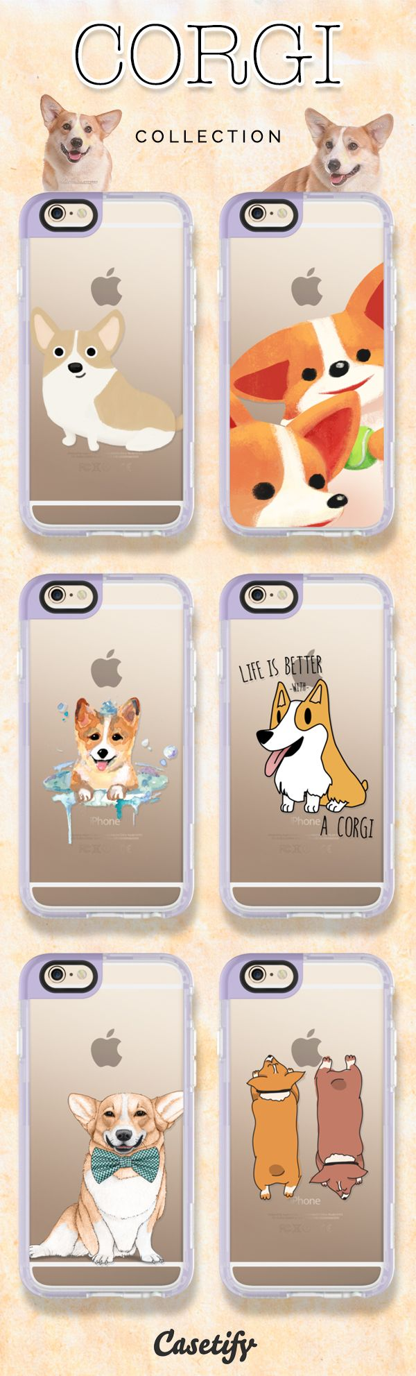 Top 6 Cogi iPhone 6 protective phone case designs. All you need is love and a corgi! | Click through to see more iPhone phone case idea >>> https://www.casetify.com/artworks/mmbrqv6E4s #pet | @casetify