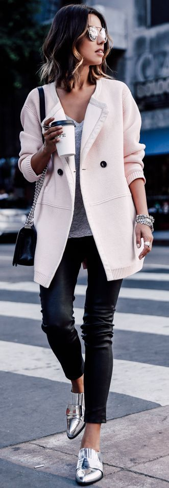 Silver Pointy Loafers Fall Street Style Inspo by Vivaluxury