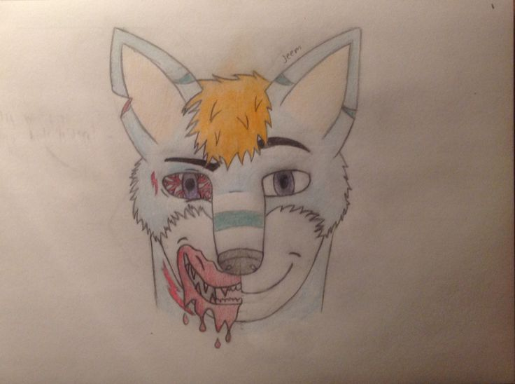 Sliced personality. Art by me