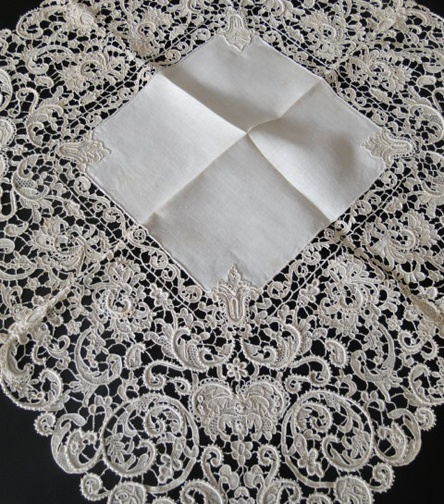 Antique Lace, Linens-Vintage Clothing-Textiles-Fans-Stella Niforos-New York: Archive