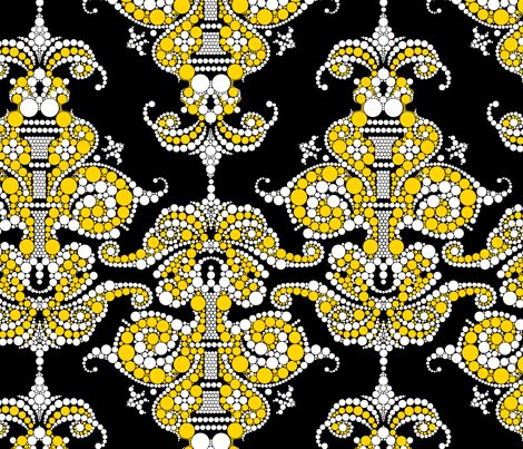 Putting a point on it - Gold and Black fabric by thirdhalfstudios on Spoonflower - custom fabric: Point, Patterns, Color, Spoonflower, Fabrics, Textile