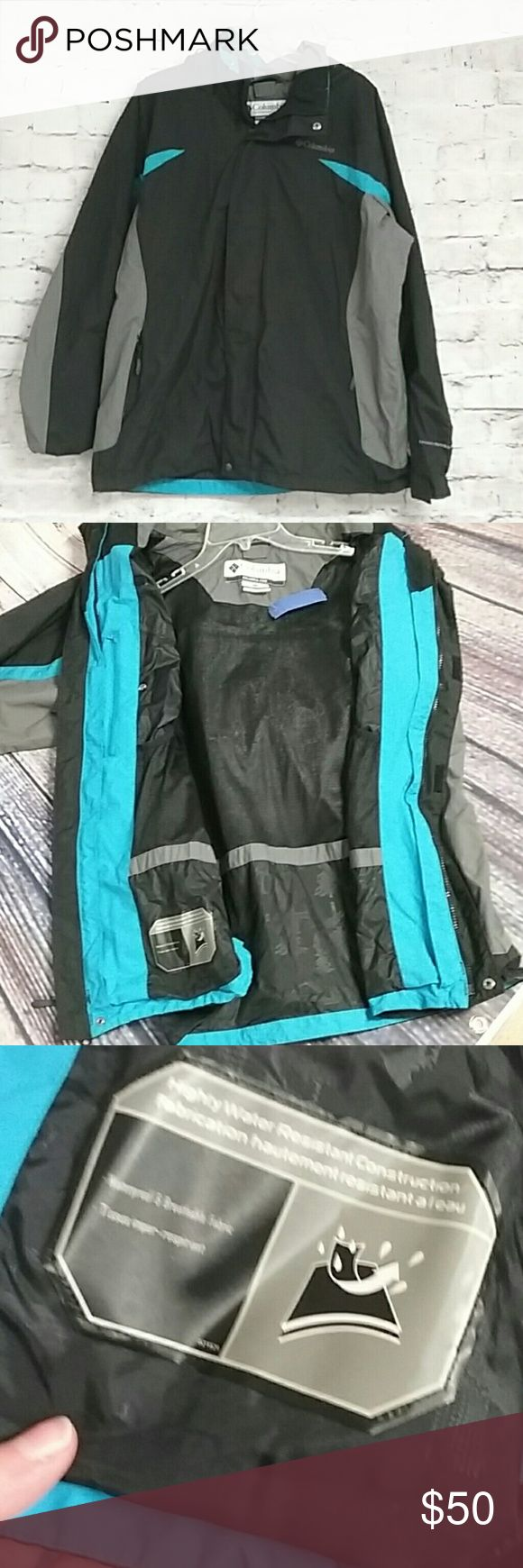 HOST PICK! Men's Columbia water resistant jacket Excellent condition Men's Columbia Sportswear company jacket. Tag says that it is water resistant and breathable. Size Large   Please feel free to check out my other items in my closet. Fast shipping and deals on bundles. Will consider all reasonable offers. Columbia Sportswear Company  Jackets & Coats Raincoats