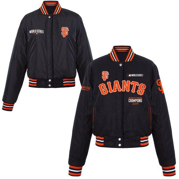 San Francisco Giants Women's 2014 World Series Champions Reversible Jacket - Black - $109.99