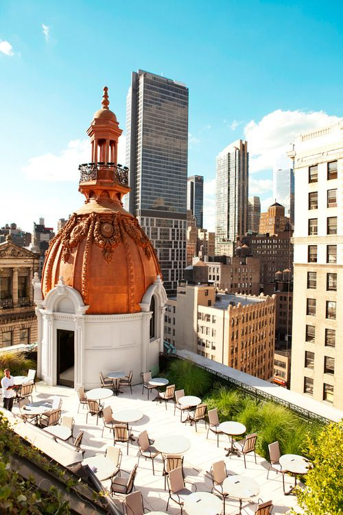 The NoMad, New York - in Condé Nast Traveler's Hot list 2014. Incredible roof terrace.