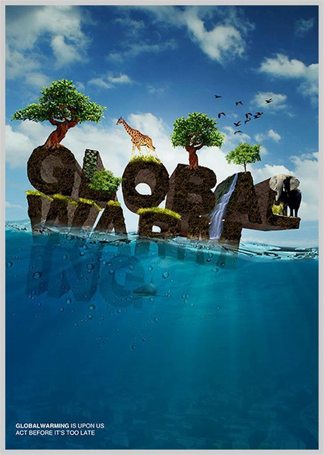 Creative global warming awarness poster design