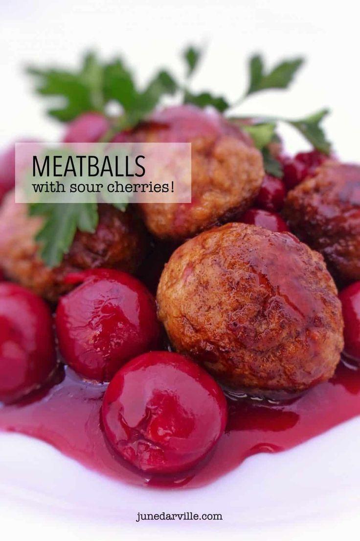 Belgian meatballs with sour cherries: classic Belgian cuisine!