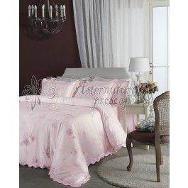 Valeron Madeline- lenjerie de pat de lux din bumbac satinat imprimat digital