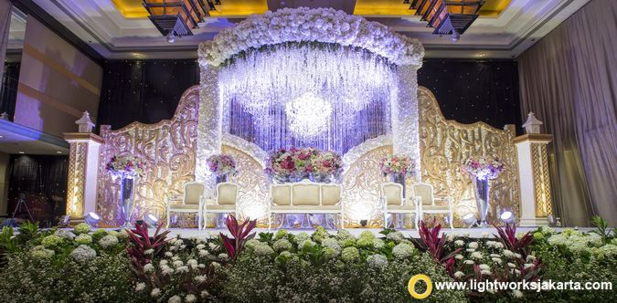 Sangil and Aflin's Wedding Reception; Venue at Grand Hyatt, Jakarta; Master of Ceremony by Daddo Parus; Decoration by White Pearl Decoration; Lighting by Lightworks