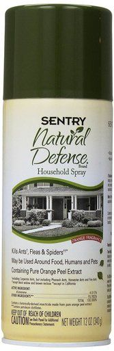 Sentry Natural Defense Flea and Tick Household Spray Insecticide Pets Treats 12 oz