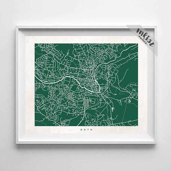 Bath Map, England Print, United Kingdom Poster, Street Map, Map Art, Holiday Gift, Playroom Art, Dorm Decor, Home Decor, Christmas Gift, Wall Art. PRICES FROM $9.95. CLICK PHOTO FOR DETAILS.#inkistprints #map #streetmap #giftforher #homedecor #nursery #wallart #walldecor #poster #print #christmas #christmasgift #weddinggift #nurserydecor #mothersdaygift #fathersdaygift #babygift #valentinesdaygift #dorm #decor #livingroom #bedroom