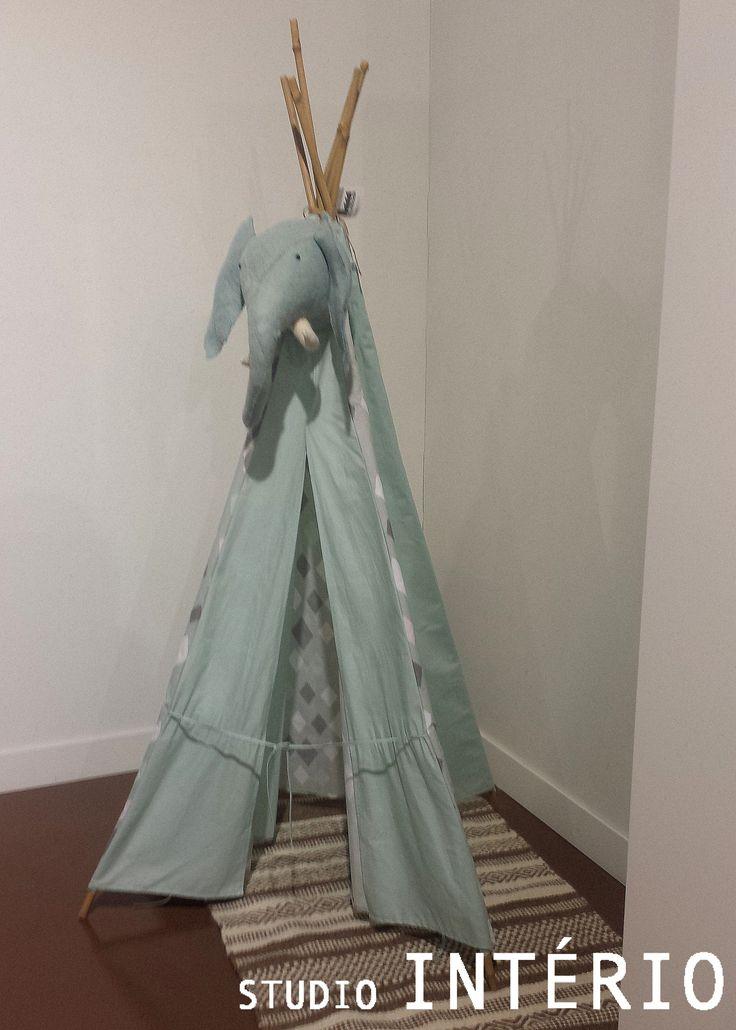 #SI #StudioInterio #Studio #Interio #Riel #Brabant #Design #architecture #inspiration #beinspired #interior #interieur #interieurdesign #modern #chique #luxe #atmosphere #sfeer #children #child #kids #tent #tipi #indianentent #blue #elephant #olifant #kinderkamer