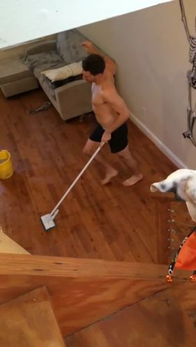 Have you seen our range of cleaning products? You'll be as happy as this guy. http://www.kitchendomain.co.nz/category/2597-cleaning https://video.buffer.com/v/58a526029d710c726a628aec