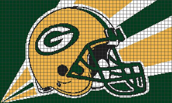 Green Bay Packers Graphghan Pattern Chart/Graph by YarnLoveAffair