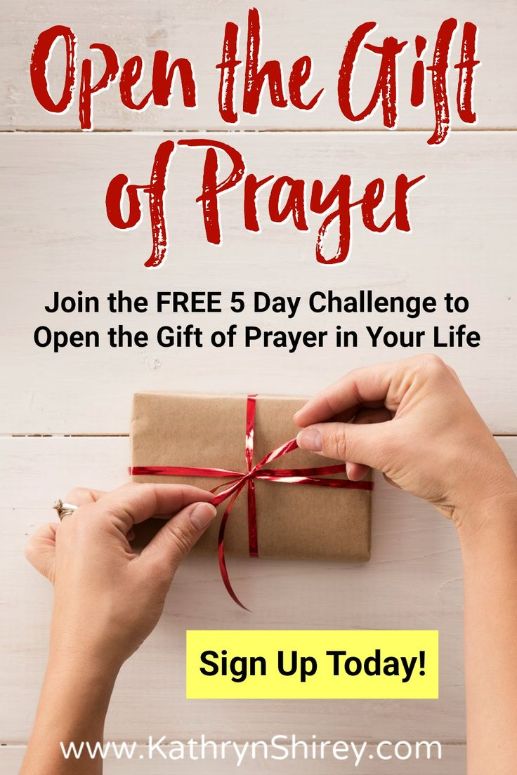 Have you fully accepted and put to use God's great gift of prayer? Have you opened it, but aren't quite sure how to make it purposeful and powerful for your life? Explore this gift of prayer through 5 days of FREE email-delivered devotionals, with reflections and prayer prompts. Discover the greatest gift you already have!