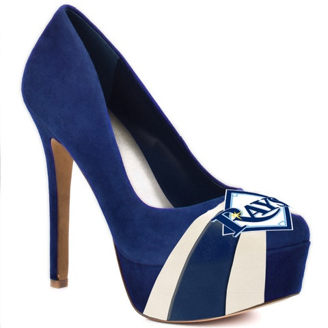 Tampa Bay Rays High Heels. Repin for a chance to win a