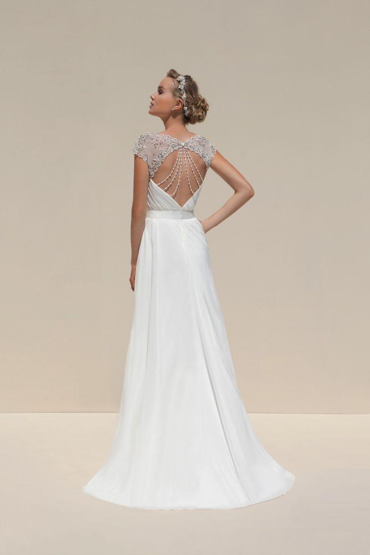 Style 3992 by Mark Lesley Wedding dresses with beautiful backs #wedding #dress #back #beading
