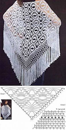 Lovely Shawl photo with graph under photo. NO Link. Only goes to commercial!