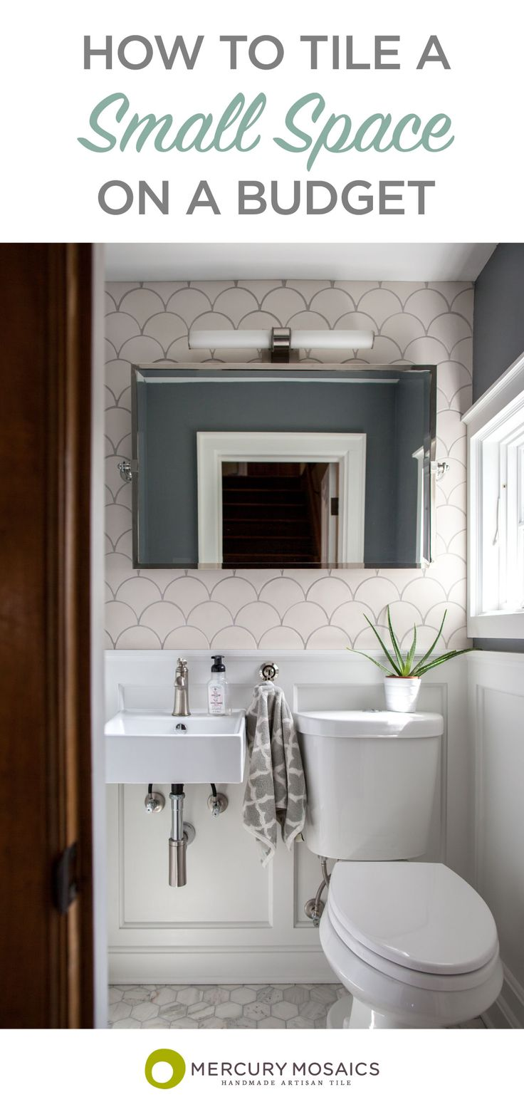 Large Moroccan Fish Scales in all white help breathe new life into this partial bath! #bathroomtile | Mercury Mosaics