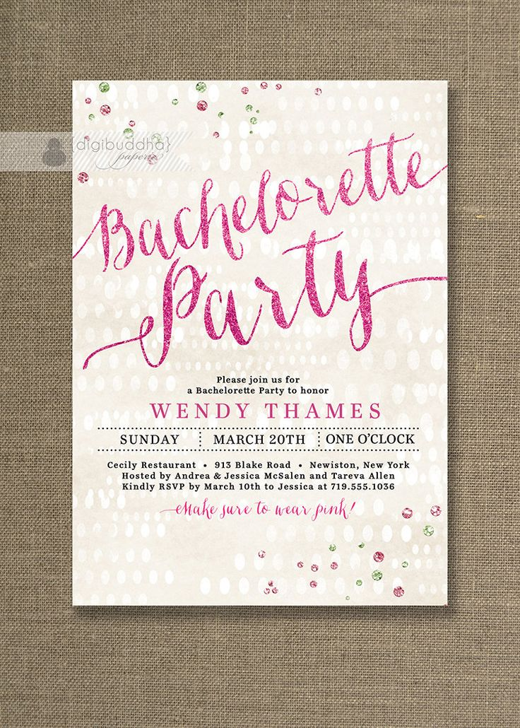 2391 best Bachelorette Party Invitations images on Pinterest ...