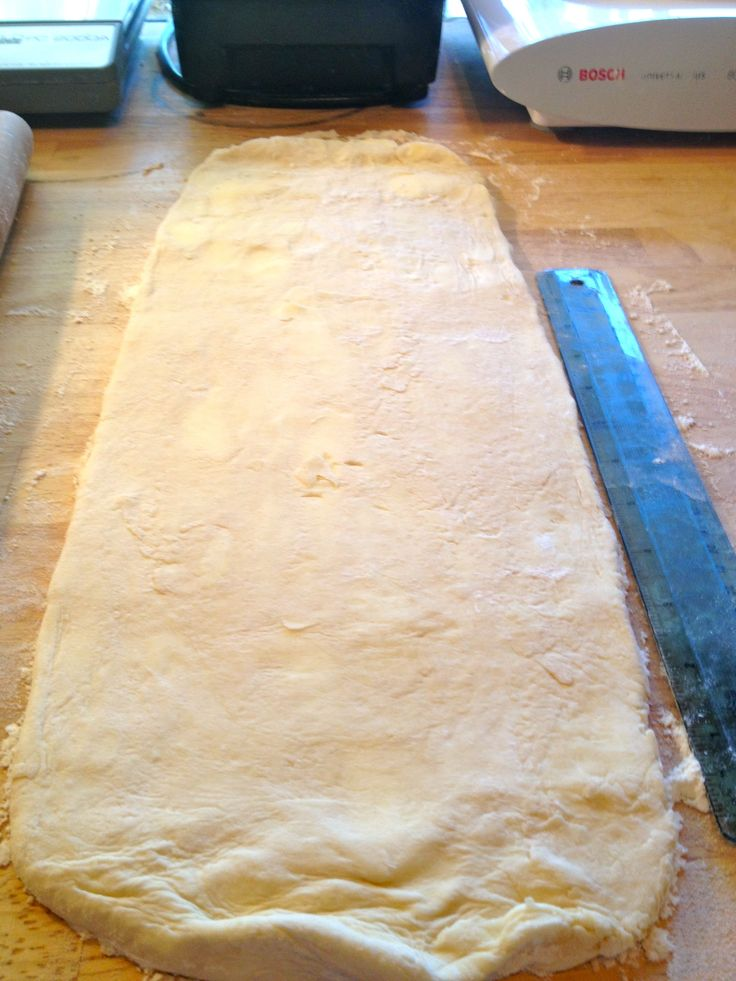 my own homemade puff pastry! it turned out awesome and I doubled the recipe so I had some for future use...